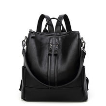 High quality Leather backpack bags for high school girls