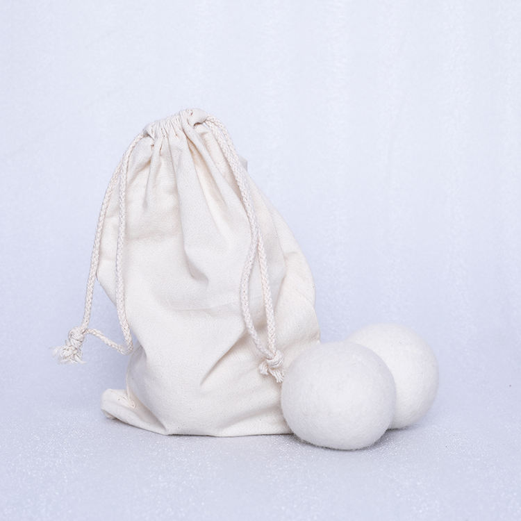 6 Pack XL 100% Pure organic Wool Dryer Ball with cotton bag packing