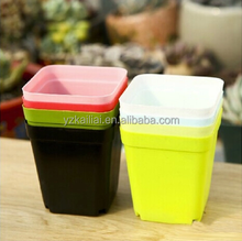 Light Flower Pot with 8 Colors square bucket