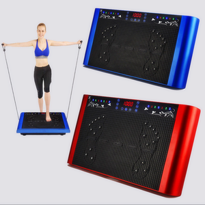 Trillingen Machine Massage Yoga Slanke Body Shaper Metallic Blauw Fitness Gym