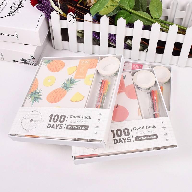 Vendita calda Dall'assortimento dolci frutti libri set regalo di compleanno Bella Scuola stazionario set per il capretto