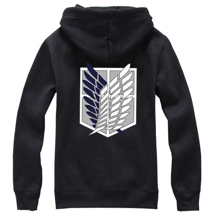 ecowalson Anime Women's Men's Attack on Titan Long Sleeve Hoodies Sweater Jacket Coats