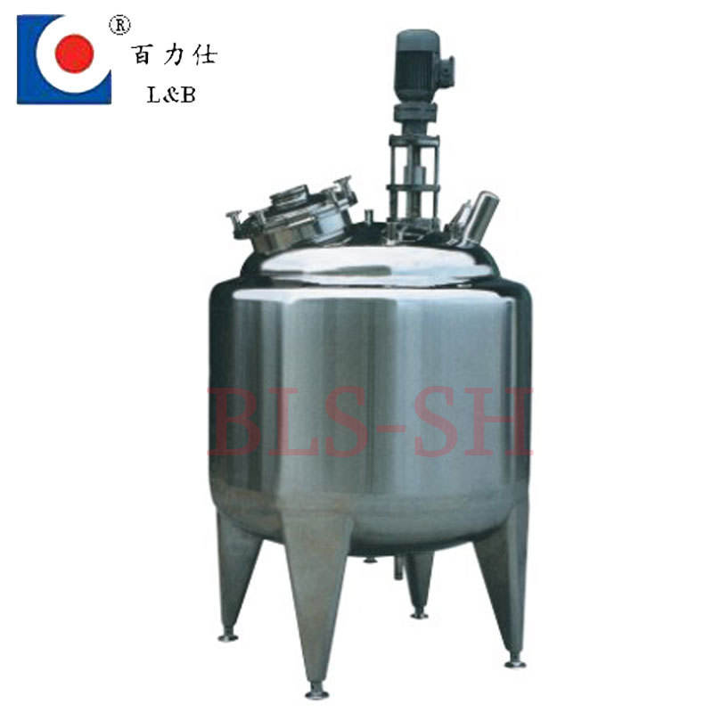 BLS 500--20000L stainless steel paint mixing tank with agitator