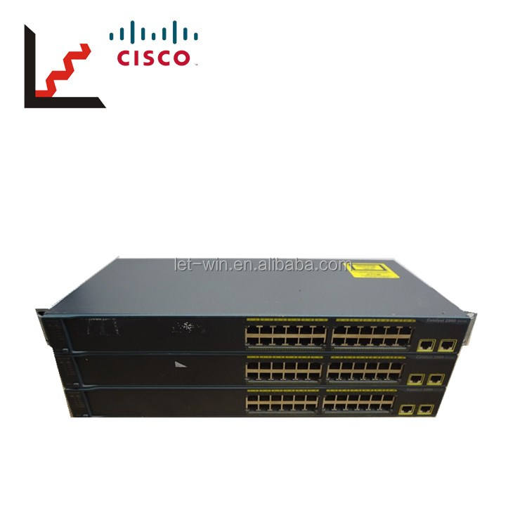Original used Cisco WS-C2960-24TT-L 2960 24 Port 10/100 Switch good price in stock