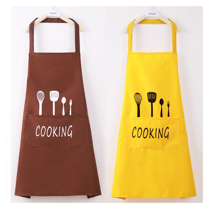 Custom quality polyester chef apron cotton kitchen apron