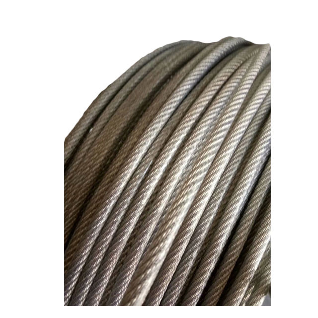 1/2/3/4/5/6/8mm white/red/blue color of nylon coated 316 stainless wire rope