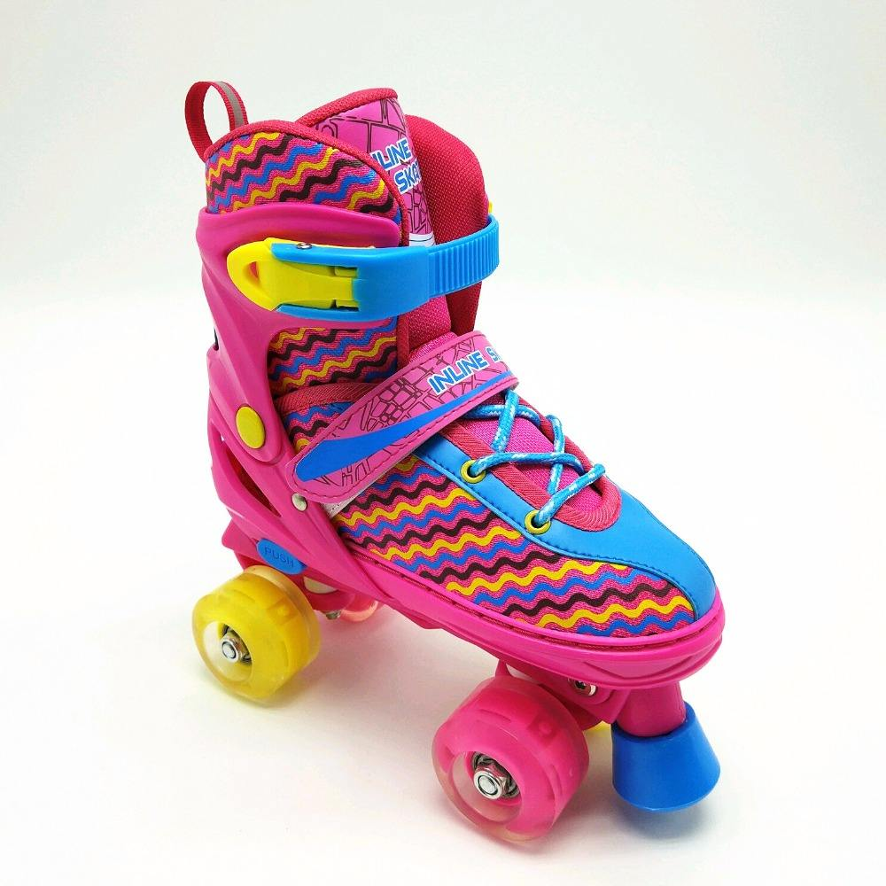 roller skate shoes for kids with wheels 4 wheels factory price cheap skate roller shoes quad line