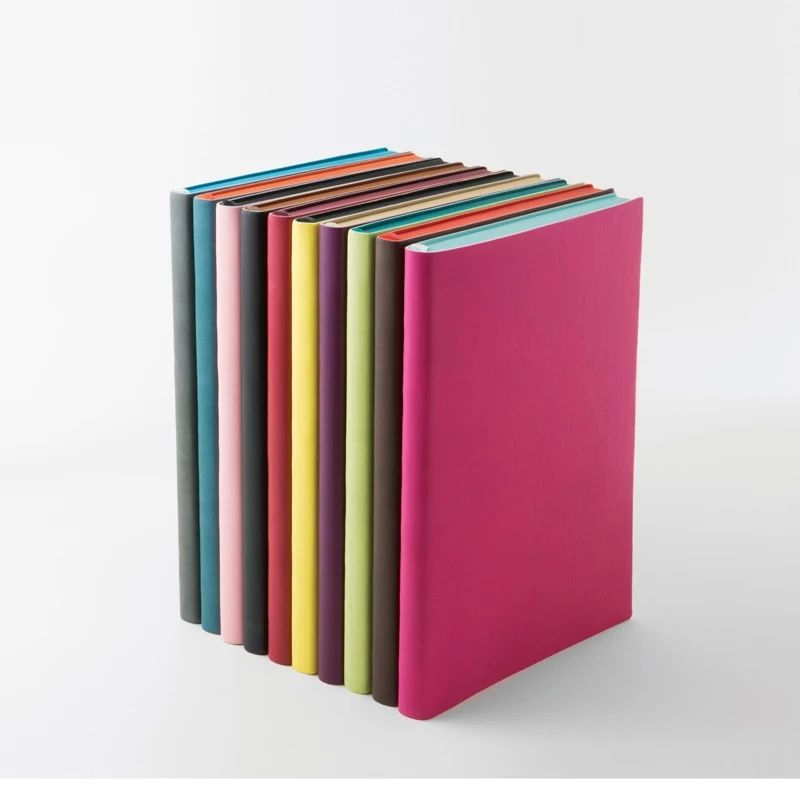 soft cover pu leather notebooks 2020 agenda
