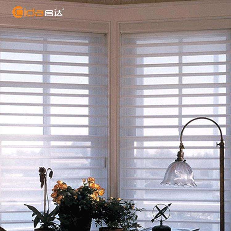 Fashion new design manual motorized light-filtering Shangri-la blinds one way vision blinds for office curtains and blinds