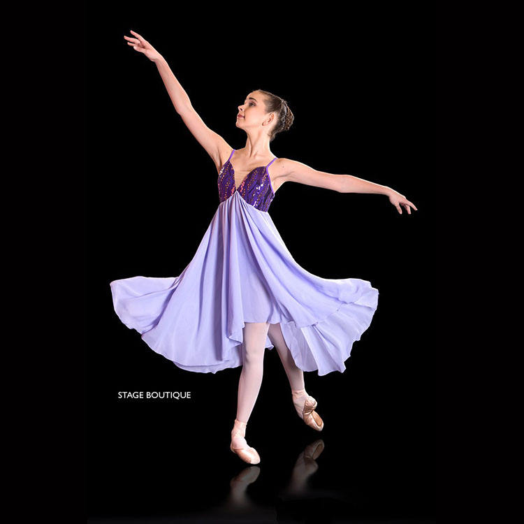Hot Selling Chiffon Dress for Adult Girls Ballet, Lyrical and Contemporary Dancing
