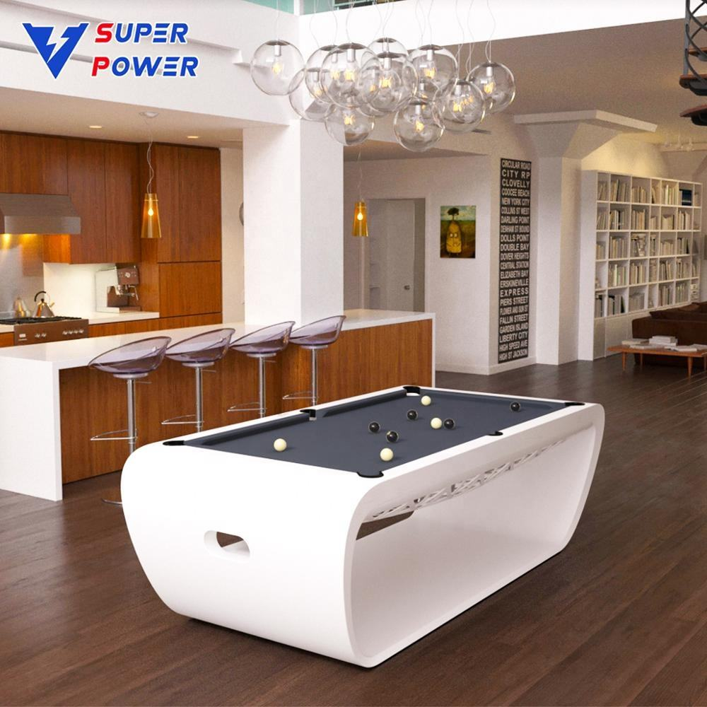 Chaoli high grade quality special legs design style solid wood slate 7ft 8ft 9ft modern billiard pool table for club