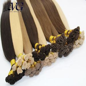 Extreme workmanship 100% remy human hand tied extension human hair weft