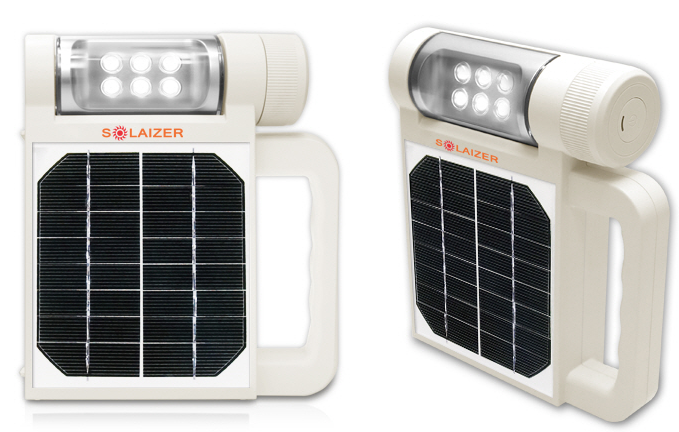 Solar powered ecológico linterna LED portátil