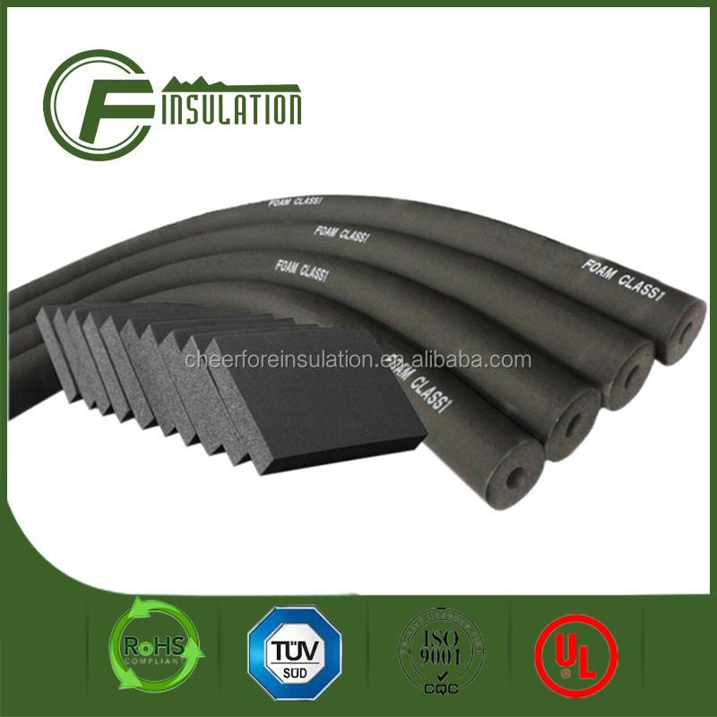 China fabricante vender caucho de espuma de aislamiento térmico tubería/tubo