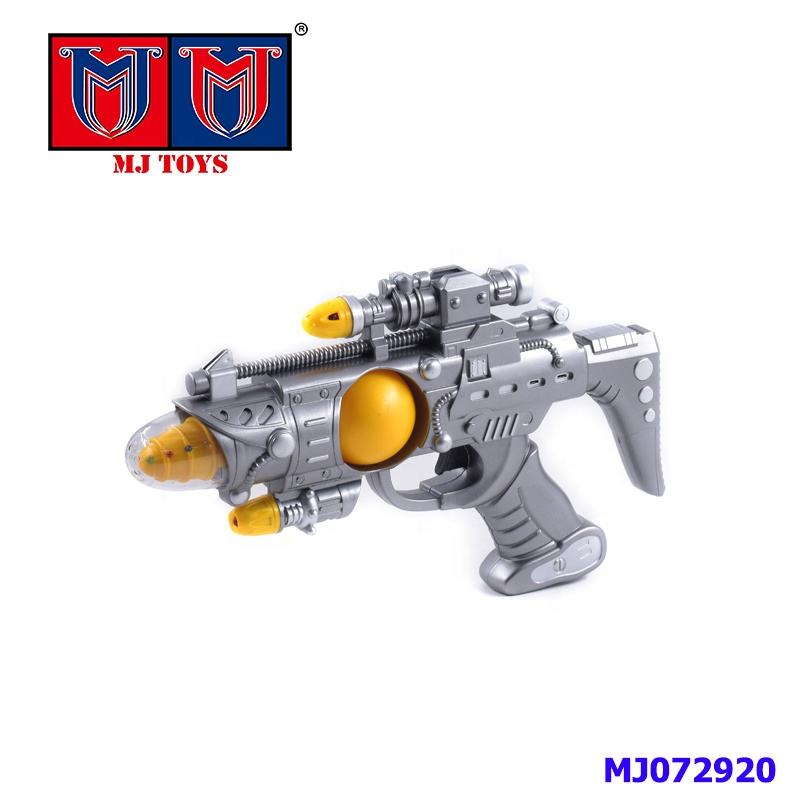Plastic super cool small toy gun electric with lights, music