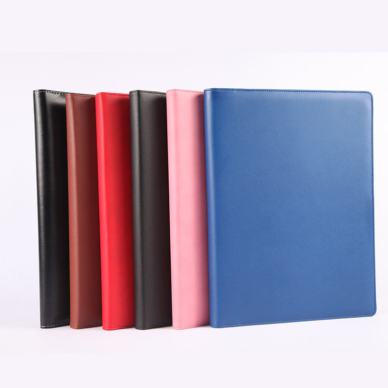 OEM Factory Price Wholesale High Quality luxury fashion presentation PU leather folders with logo