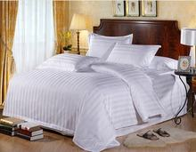 Hotel used cotton stripes pattern hotel duvet cover for bedding set