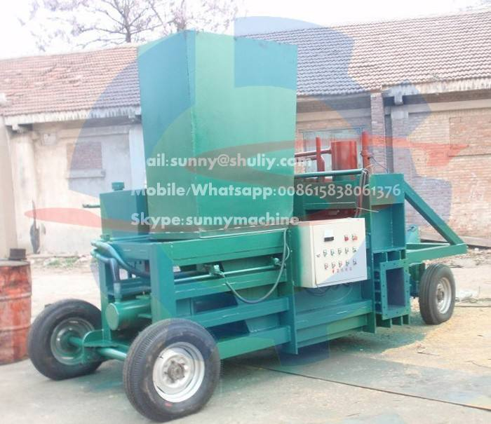 sawdust wood shavings press baler machine from factory