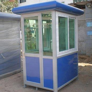 Prefabricated Metal Steel Security Guard booth fixable sentry box house in the parking lot