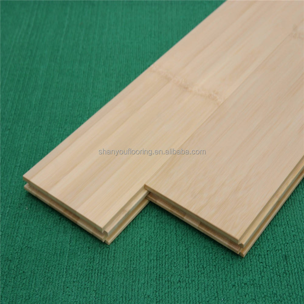 ECO friendly bleaching treatment natural bamboo floor tiles