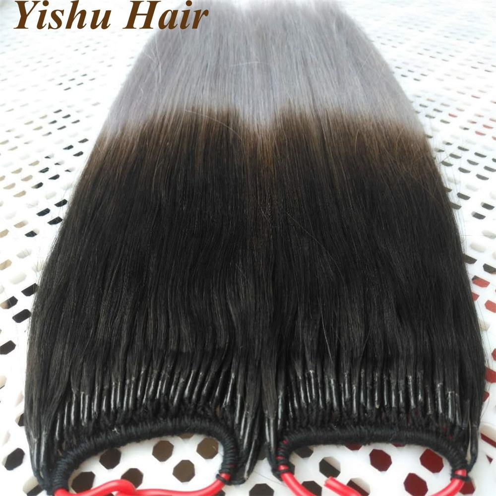 Factory wholesale cheap remy human hair prebonding ombre colour I/u/v/flat tip/nano ring hair extensions