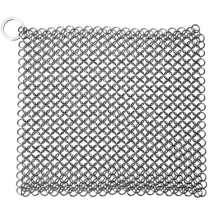 7x7 Inch Premium Keuken Gietijzeren Cleaner Rvs <span class=keywords><strong>Chainmail</strong></span> <span class=keywords><strong>Scrubber</strong></span>