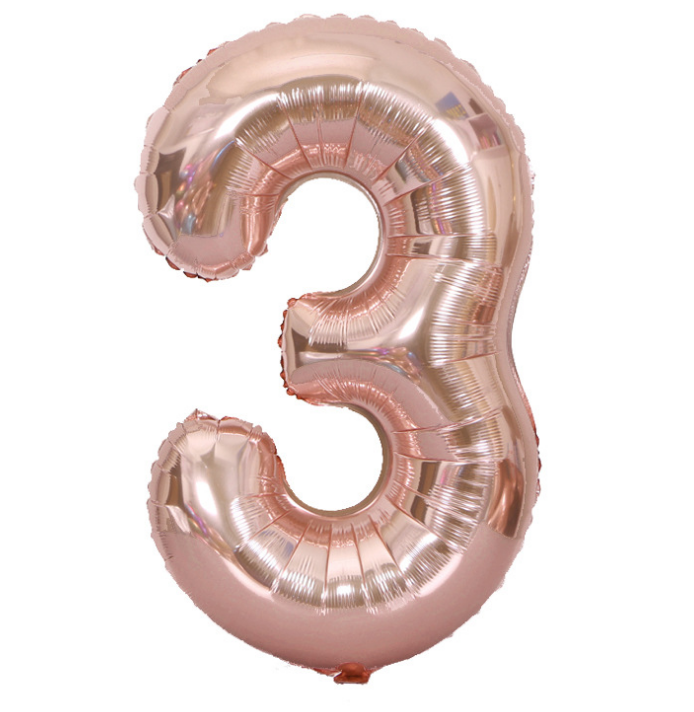 Letters and numbers foil balloon for birthday decoration