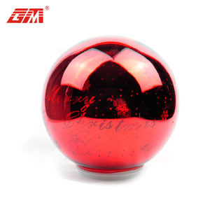 Wholesale round large red glass decorative christmas balls