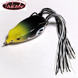 Takedo high quality L038 65mm 18g skirt fishing soft lure frog topwater frog floating bass lure