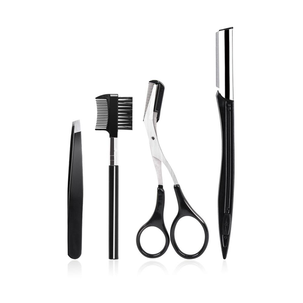 Amazon hot sales eye brow makeup sets wholesale 4 in 1 high quality OEM/ODM eyebrow scissors