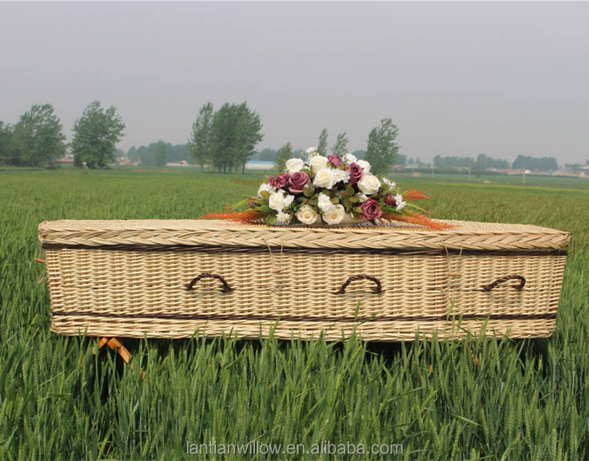 Natural Hand-made Wicker Caskets Coffins Funeral