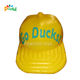 Giant yellow inflatable cap for hat party