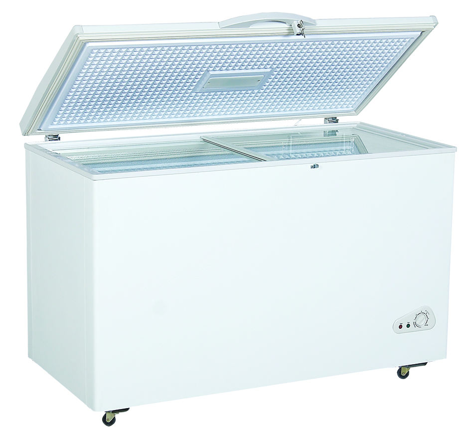 White inner tank deep freezer in 368L with CB