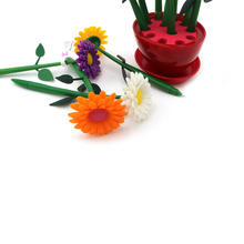Novelty creative cute flowers shaped ballpoint pen with a pot for Promotion and school office gift