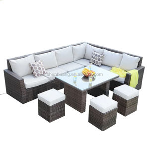 wholesale cheap good quality rattan garden furniture wicker sofa