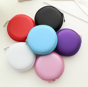 Customized EVA carrying headset case,round eva earphone case for promotion,Hard eva gift pouch case wholesale