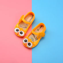 Owl style soft comfortable toddler girls mini melissa pvc jelly shoes
