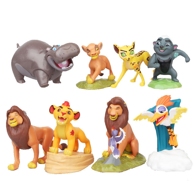 (Newest) 8pcs lion king toy sets, Simba toys lion status, lion king figure doll for kids