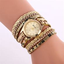 Women Metal Strap Wristwatch Bracelet Quartz Watch Ladies Clock