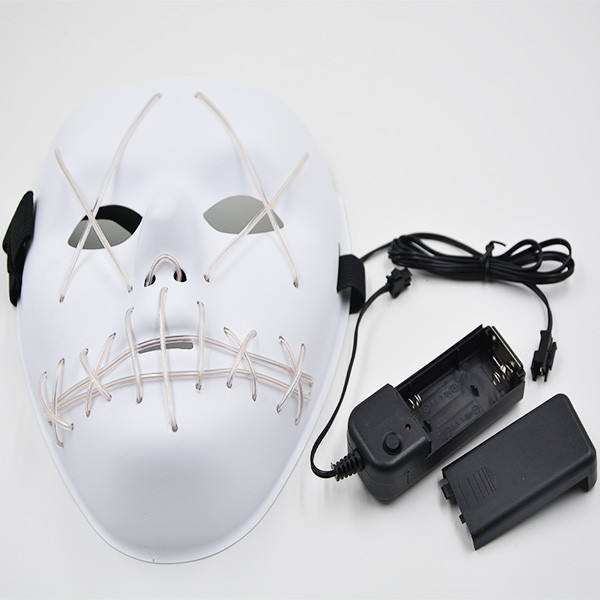 Spec-502 Halloween Cosplay Kostuum El Draad Licht Up <span class=keywords><strong>Masker</strong></span> Voor Festival Party Halloween Led <span class=keywords><strong>Masker</strong></span> <span class=keywords><strong>Latex</strong></span>