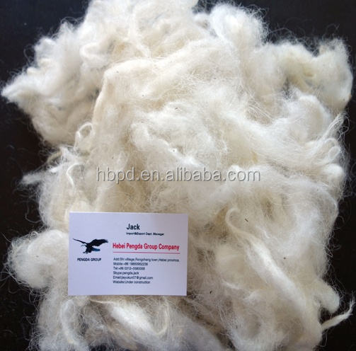 100% Ruwe Witte haired Geit Wol/Cashmere Fibre Gemaakt In China