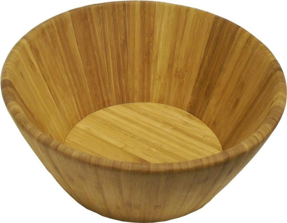 Large Bamboo Bowl for Ramen, Pho, Salad, Fruit, Noodles, Rice, Miso, Pasta | Premium Natural Sustainable Reusable Wooden Bowls