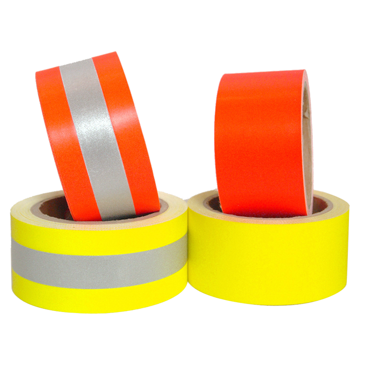 Fluorescent Yellow Aramid Cotton Reflector Tape Fire Resistant Reflective Fabric
