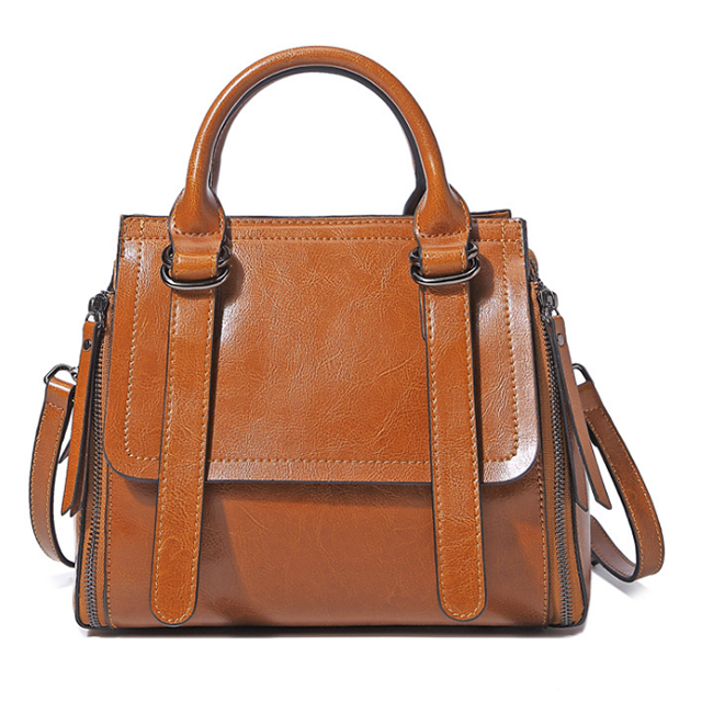 brown color hot selling Italy design leather bag
