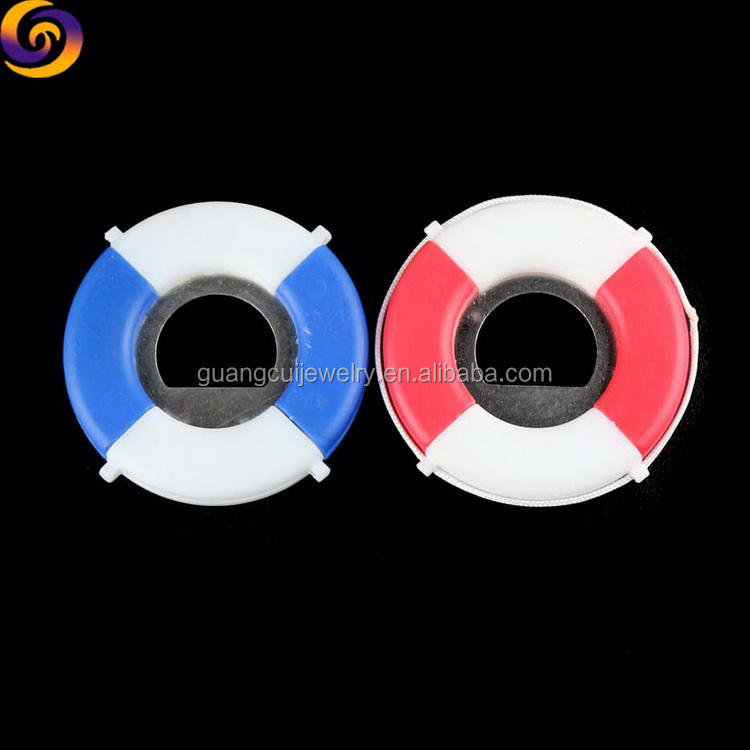 Wholesale Custom made logo plastic life buoy nautical bottle opener