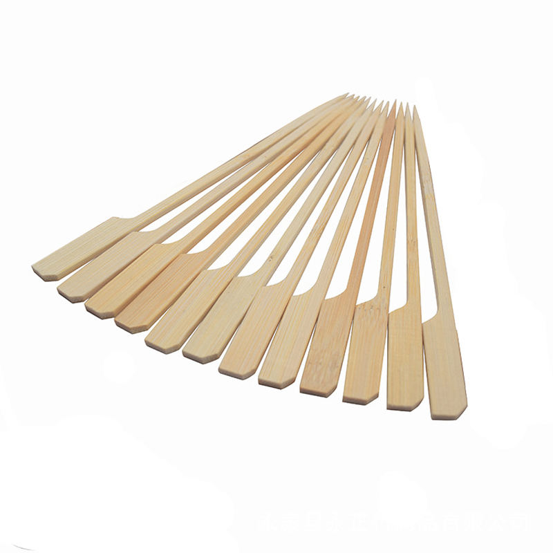 Wholesale Paddle Shape Disposable BBQ Bamboo Skewers