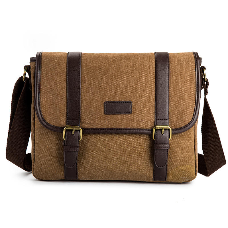 Vintage fashion canvas men shoulder messenger sling bag