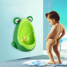 2019 China supplier wholesale low price frog design plastic wall mount children standing urinal