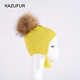 Wholesale Winter Baby Kids Knit Earlap Beanie Hat with Tassels Fur Pompoms Earlap Beanie Hat