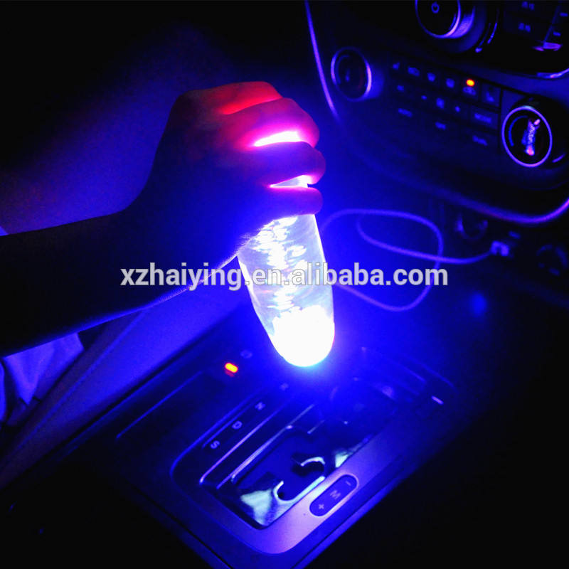 Auto Universal Acrylic Crystal Bubble LED Light Gear Shift Knobs